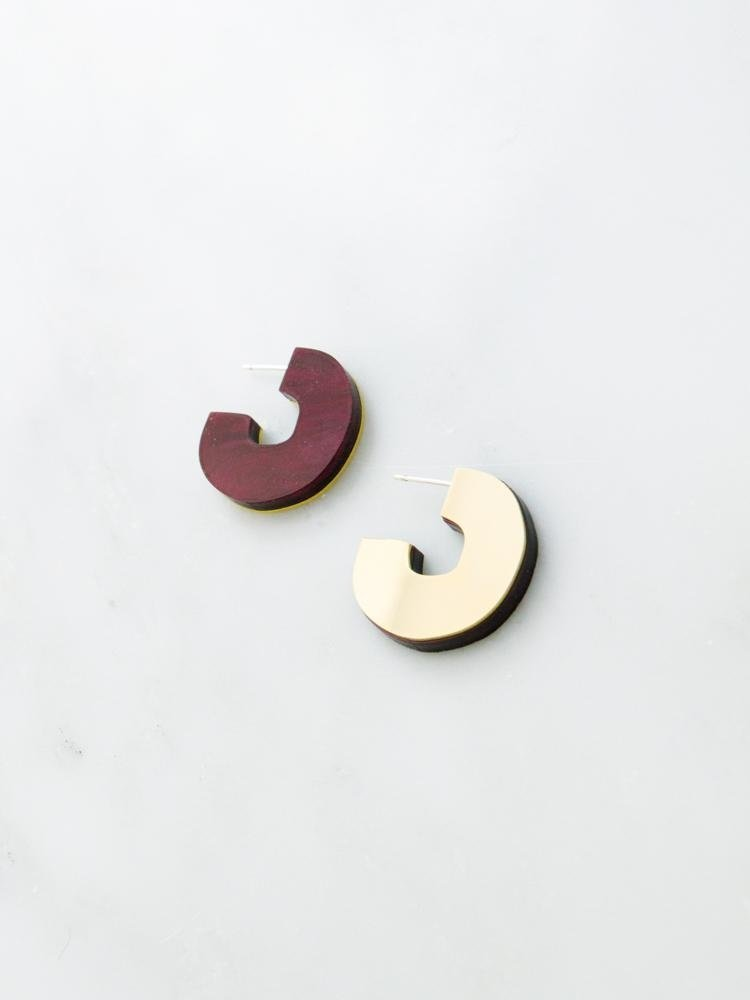 Wolf & Moon Wolf & Moon Cut Out Studs - Cherry