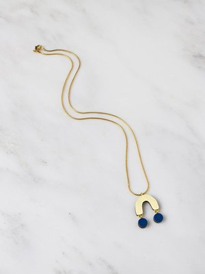 Wolf & Moon Miro Necklace Cobalt Blue