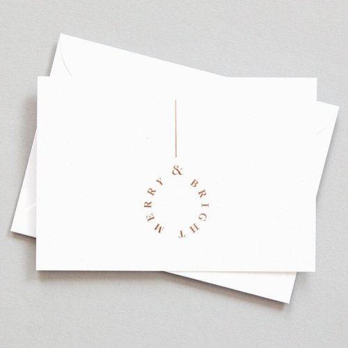 Ola Foil Blocked Cards: Merry and Bright Sand/Rose Gold