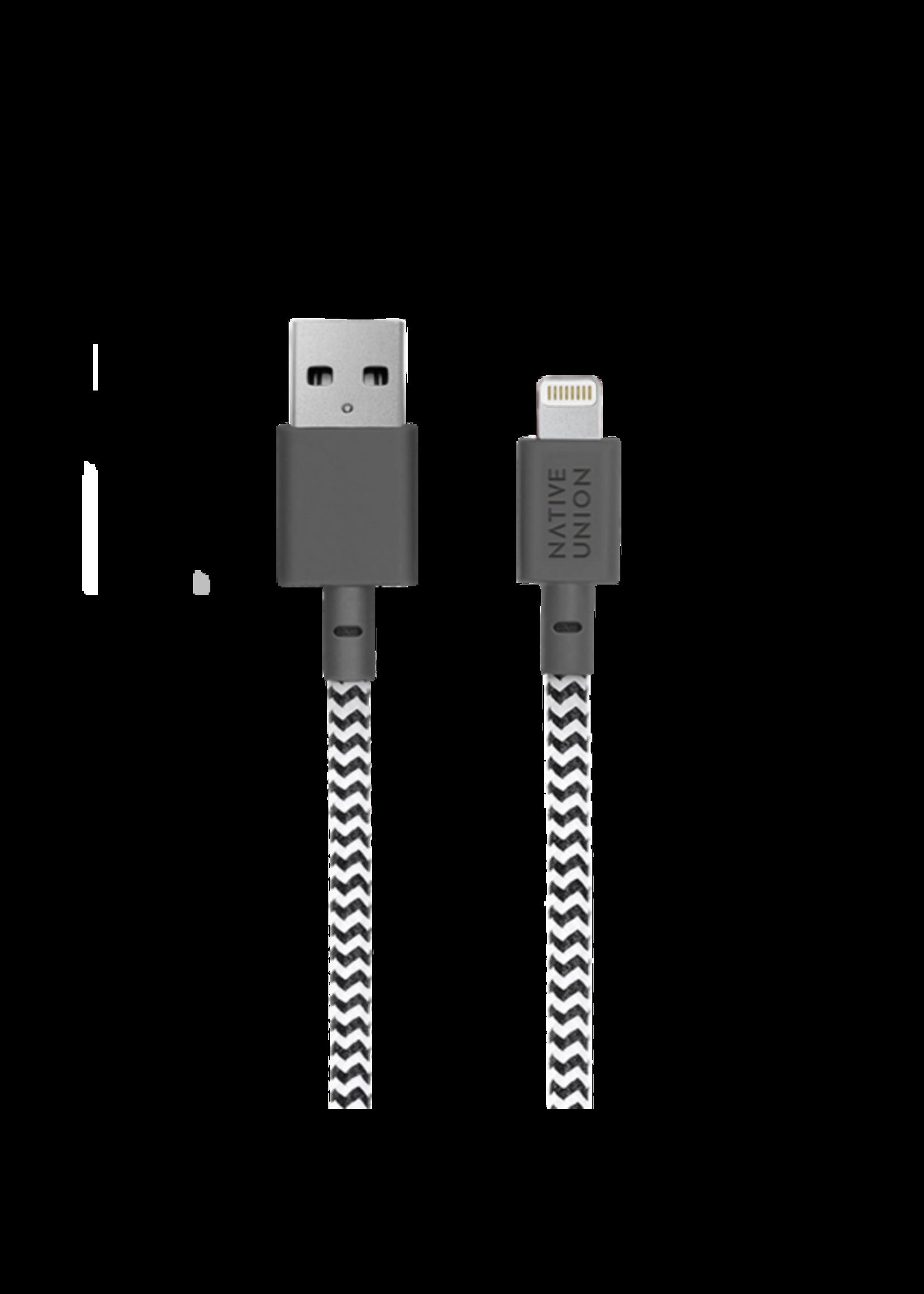 Native Union Native Union Belt Cable 1.2m - Lightning - USB - Zebra