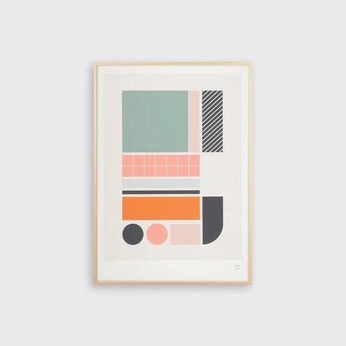 Tom Pigeon Tile 3 Print - A3