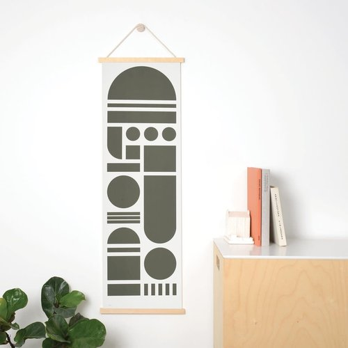 Tom Pigeon 'POST' - Black Totem Banner Print