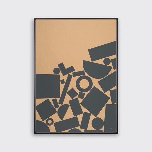 Tom Pigeon 'Stack' - Kraft Print - 500x700mm