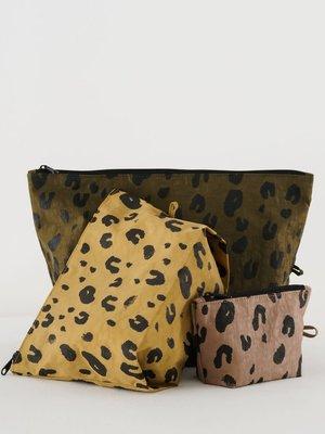 Baggu Go Pouch Set - Leopard
