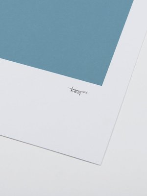 Tom Pigeon Tom Pigeon Cellardyke Blue Print - A2
