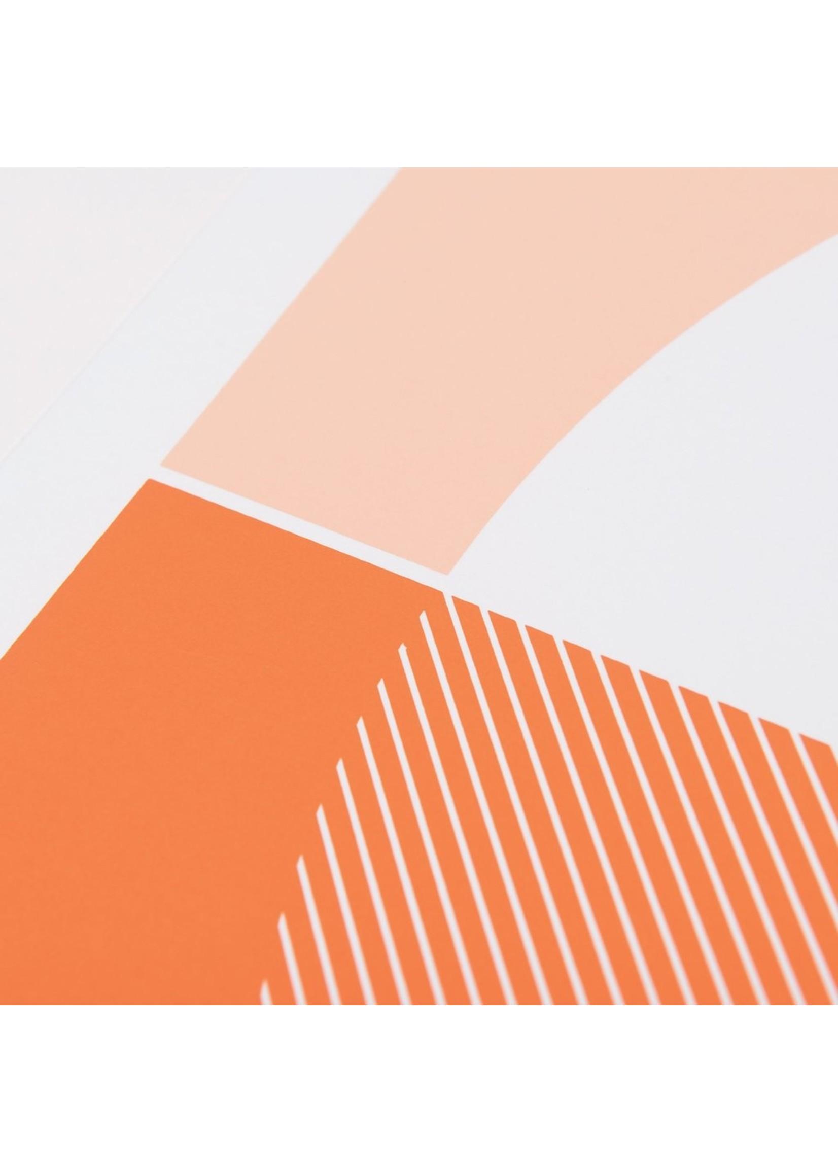 Tom Pigeon Tom Pigeon Cellardyke Pink Print - A2