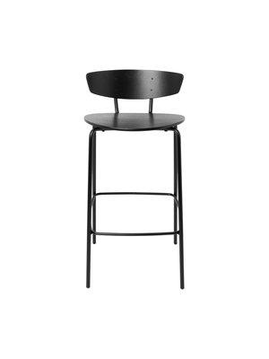 ferm LIVING Herman Bar Chair - Low - Black