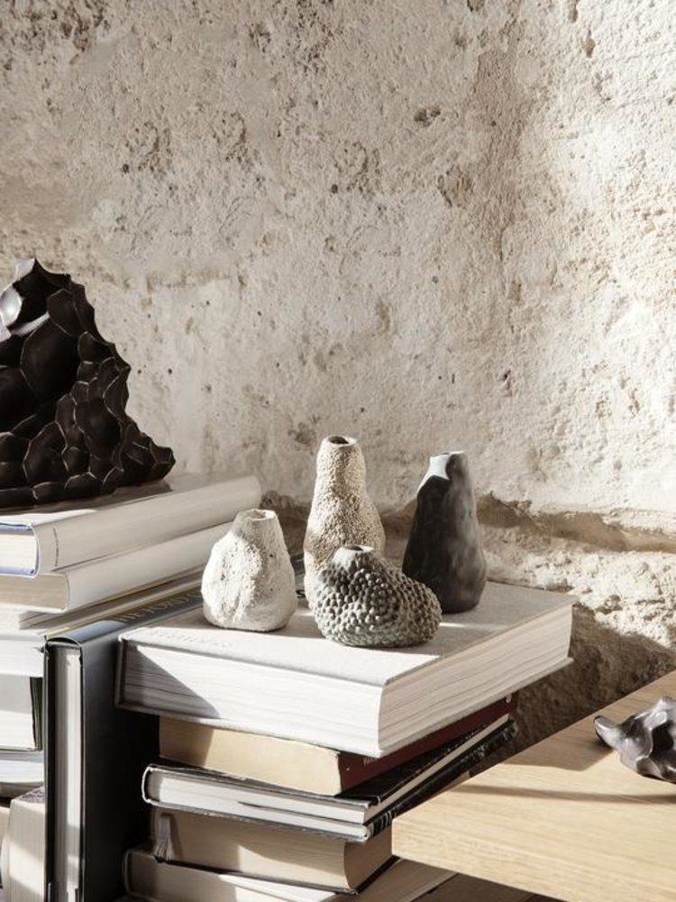 ferm LIVING Ferm Living Vulca Mini Vase - Grey Dots