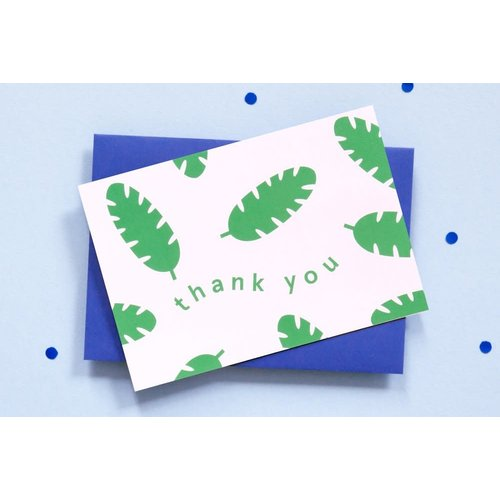 Ola Botanical Thank You Greeting Card