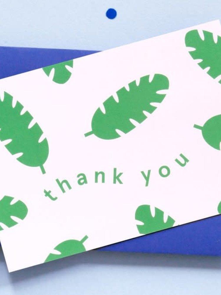 Ola OLA jr Botanical Thank You Greeting Card