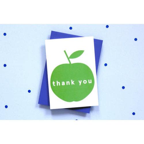 Ola OLA jr Apple Thank You Greeting Card
