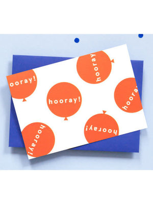 Ola OLA jr Hooray Balloons Greeting Card
