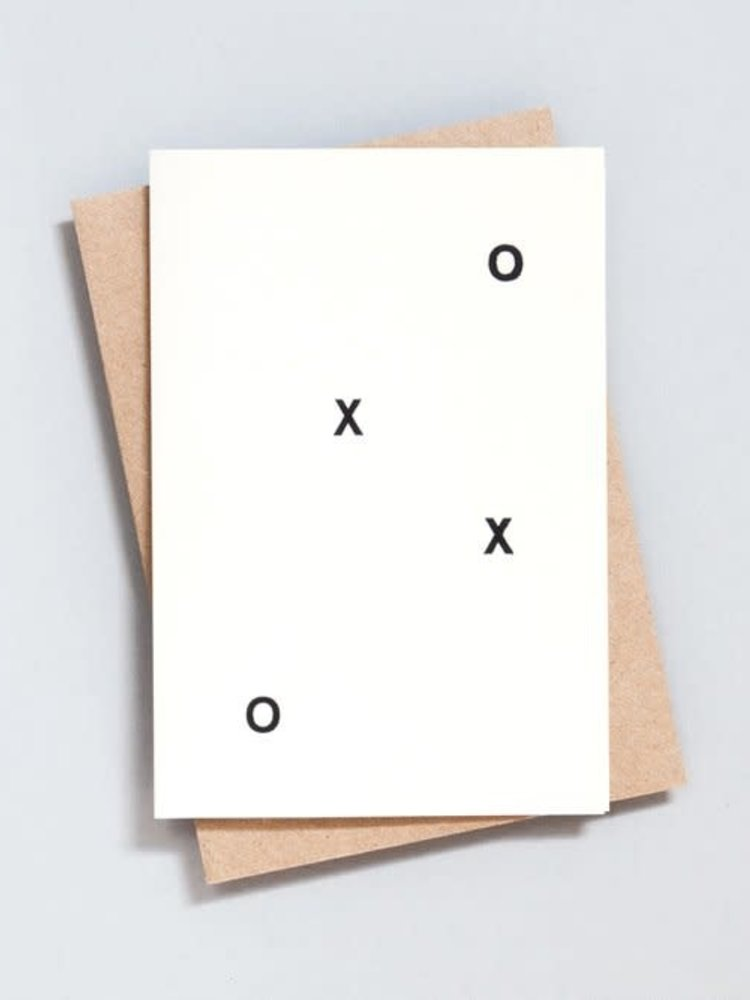 Ola Ola Foil Blocked Card Minimal Collection - XOXO Print in Natural/Black