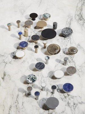 ferm LIVING Ferm Living Hook - Stone/Steel - Large - Marble Black