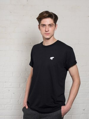Plain Bear Plain Bear original black t-shirt - white logo