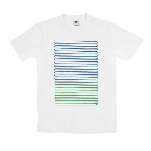 Plain Bear Plain Bear Lines t-shirt in white