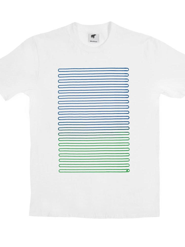 Plain Bear Plain Bear Lines t-shirt in white