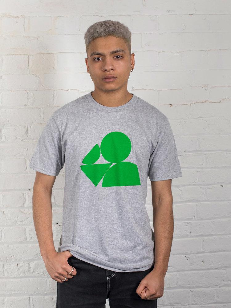 Plain Bear Plain Bear Shapes t-shirt in grey