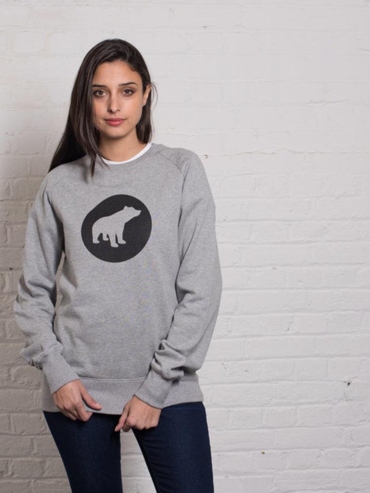 Plain Bear Plain Bear Black logo on grey sweater