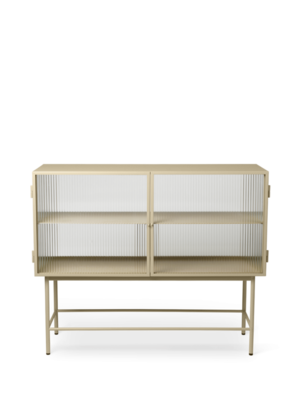 ferm LIVING Haze Sideboard - Cashmere/Reeded Glass