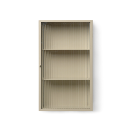 ferm LIVING Haze Wall Cabinet - Cashmere/Reeded