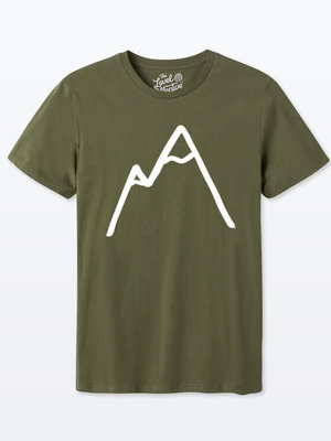 The Level Collective Simple Mountain T-shirt Olive