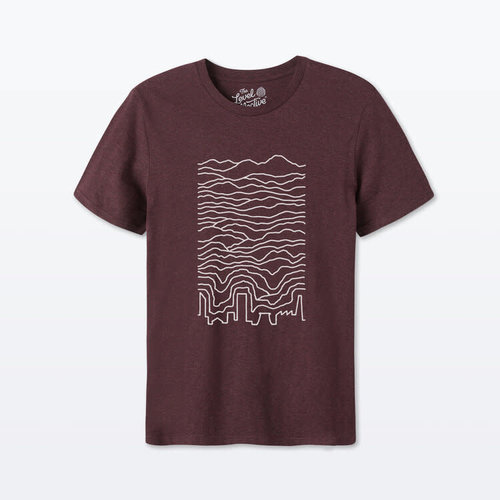 The Level Collective Known Pleasures T-shirt Grape