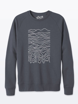 The Level Collective Known Pleasures Sweater Anthracite