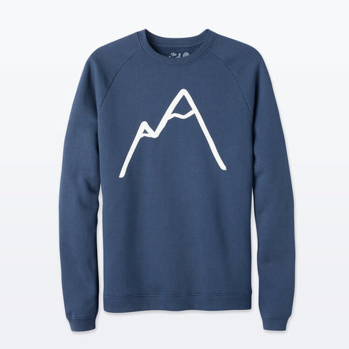 The Level Collective Simple Mountain Sweater Navy