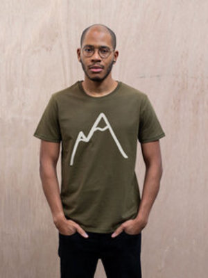 The Level Collective The Level Collective Simple Mountain T-shirt Olive