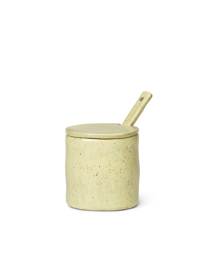 ferm LIVING Flow Jar with Spoon - Yellow Speckle