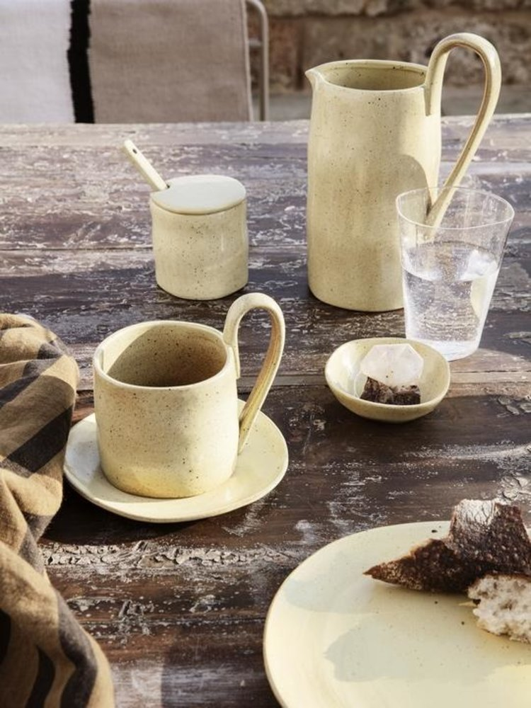 ferm LIVING ferm LIVING Flow Jar with Spoon - Yellow Speckle