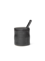 ferm LIVING Flow Jar with Spoon - Black