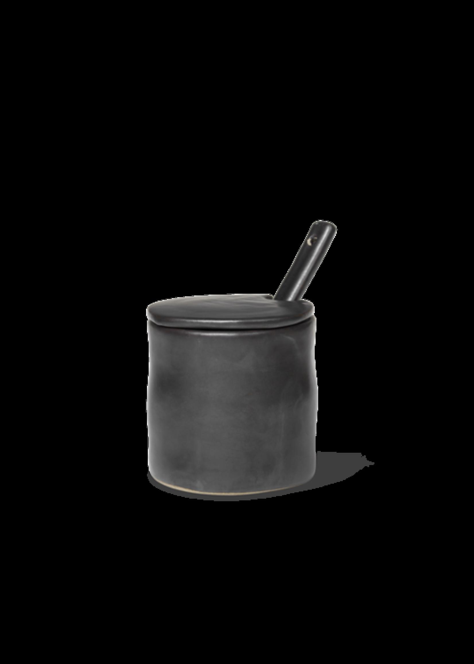 ferm LIVING ferm LIVING Flow Jar with Spoon - Black