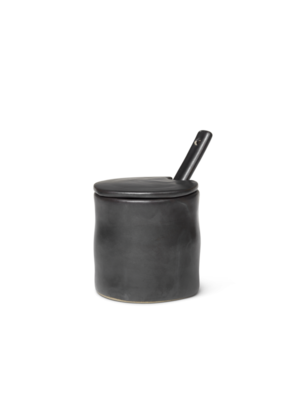 ferm LIVING Flow Jar with Spoon - Black