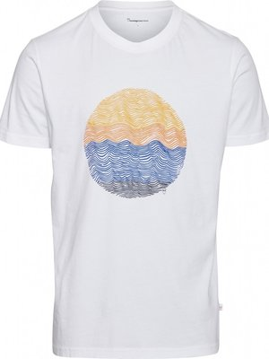KnowledgeCotton Alder Wave Bright white Tee