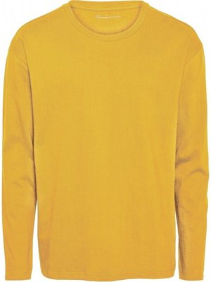 KnowledgeCotton KnowledgeCotton Sallow long sleeve top in zennia yellow