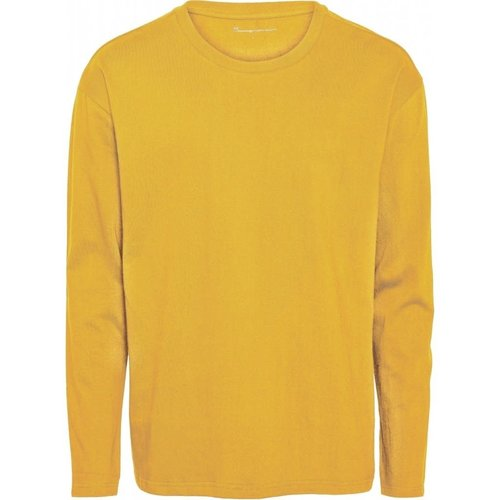 KnowledgeCotton Sallow long sleeve top in zennia yellow