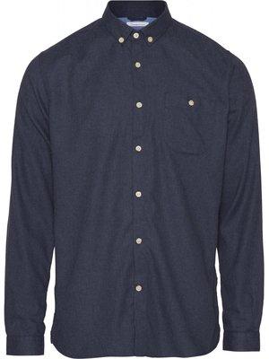 KnowledgeCotton KnowledgeCotton Elder classic melange flannel shirt