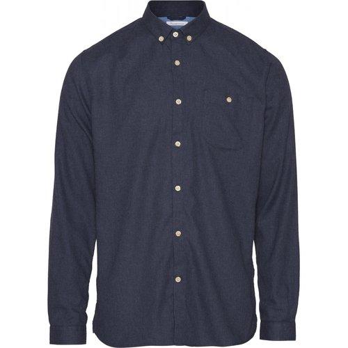 KnowledgeCotton Elder classic melange flannel shirt