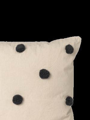 ferm LIVING Ferm Living Dot Tufted Cushion - Sand/Black