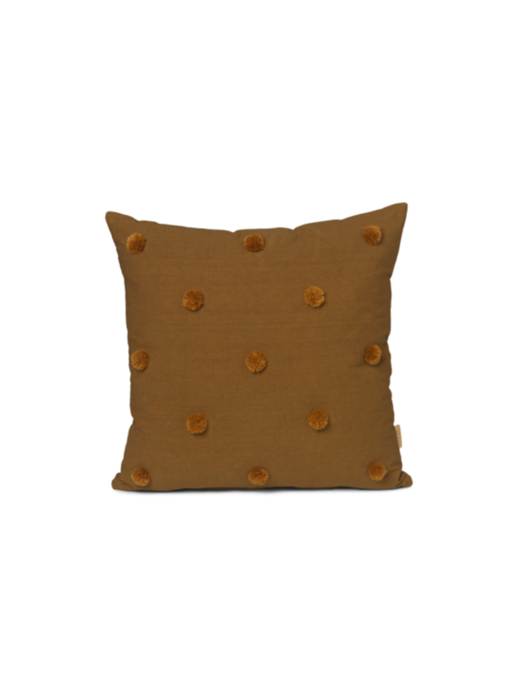 ferm LIVING Ferm Living Dot Tufted Cushion - Sugar Kelp/Mustard