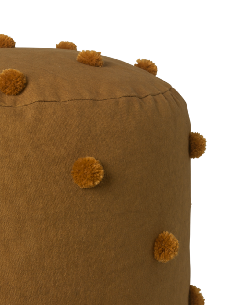 ferm LIVING Ferm Living Dot Tufted Pouf - Sugar Kelp/Mustard