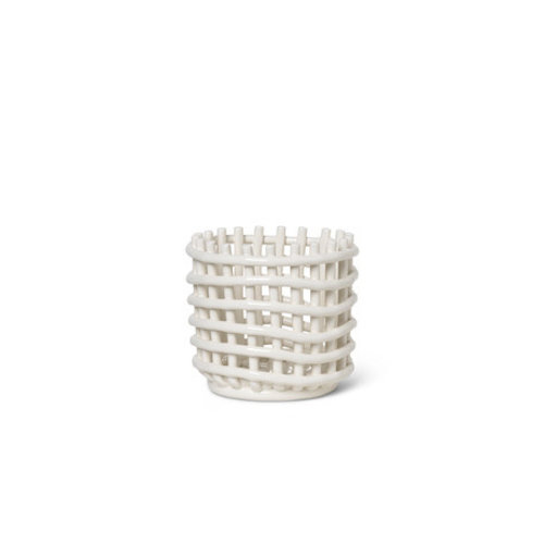 ferm LIVING Ceramic Basket - Small - White