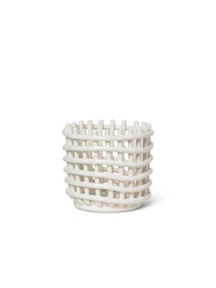 ferm LIVING ferm LIVING Ceramic Basket - Small - White
