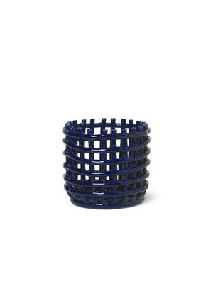 ferm LIVING Ceramic Basket - Small - Blue