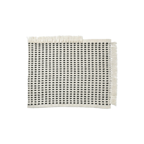 ferm LIVING Way Mat - off White/Blue