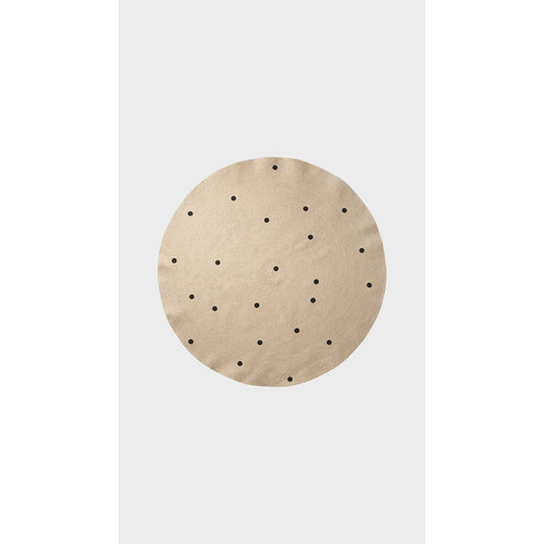ferm LIVING Small Jute Carpet - Black Dots
