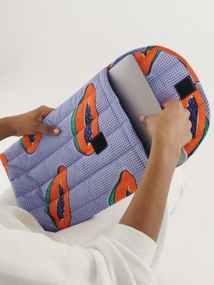 """Baggu Baggu Puffy Laptop Sleeve 16"""" - Papaya"""