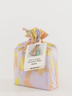 Baggu Standard Reusable Bag - Set of 3 - Tie Dye